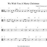 Viola Sheet Music For Christmas | Free Easy Christmas Viola Sheet   Viola Sheet Music Free Printable
