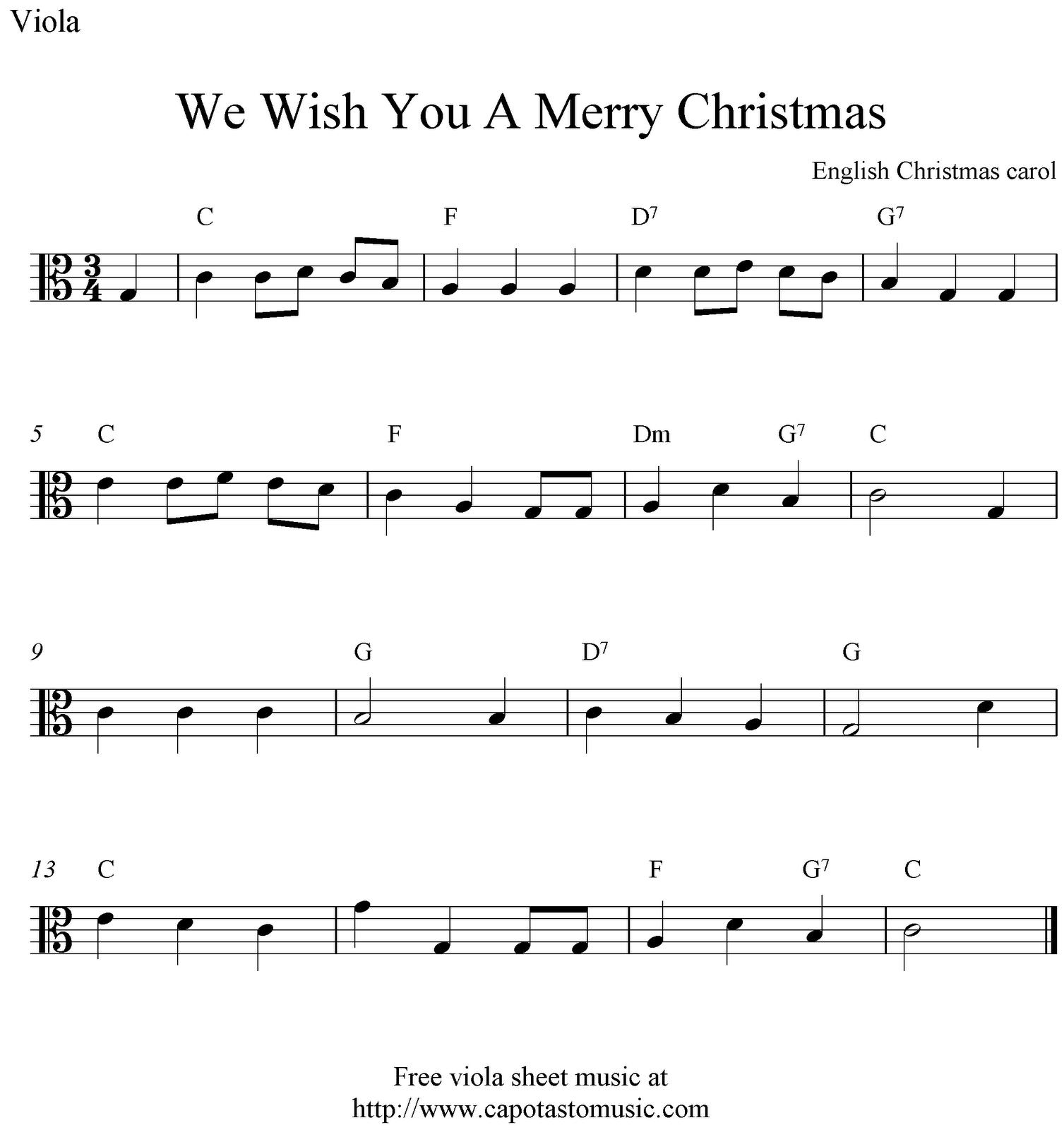 Viola Sheet Music For Christmas | Free Easy Christmas Viola Sheet - Viola Sheet Music Free Printable
