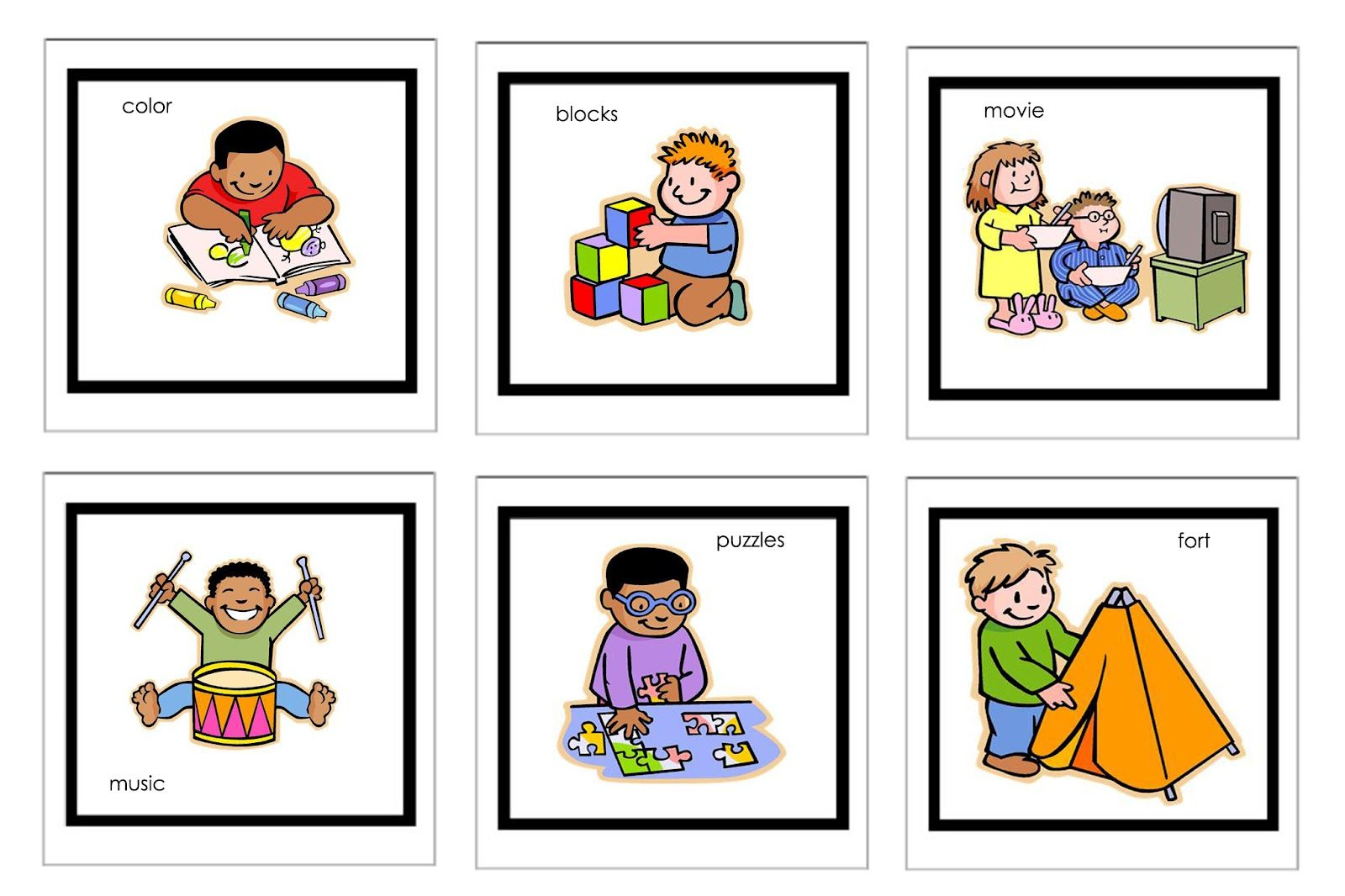Visual Schedule Pictures | Free Printable Visual Schedules Autism - Free Printable Picture Schedule For Preschool