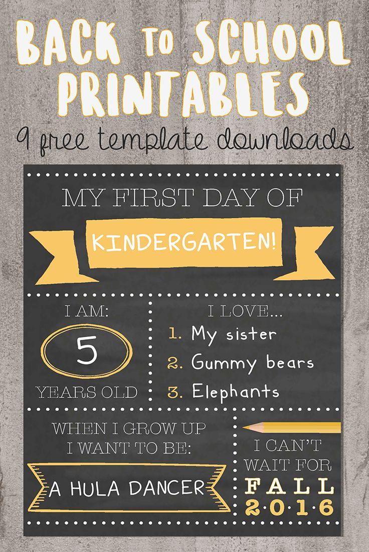 Want To Be That Instagram Mom? Try Our Printable Back-To-School - Free Printable Back To School Signs
