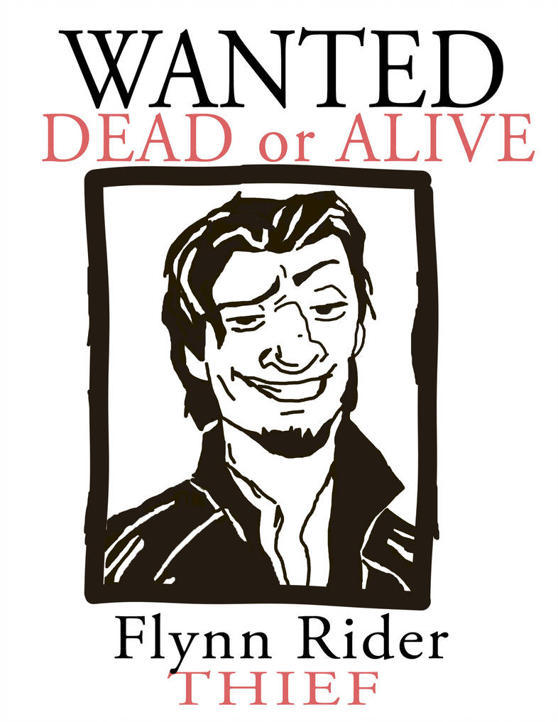 Wanted Flynn Rider Printable | Www.topsimages - Free Printable Flynn Rider Wanted Poster