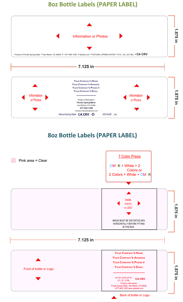 Water Bottle Labels Template With Template Free Printable W - Free Printable Water Bottle Label Template