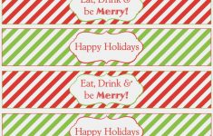 Christmas Water Bottle Labels Free Printable
