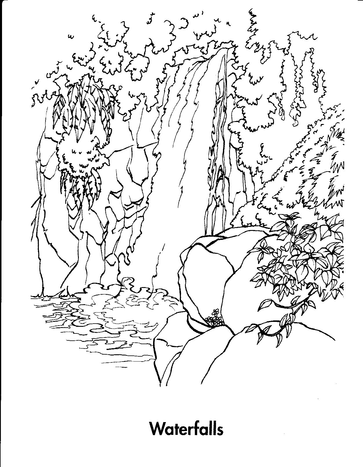 Waterfall Coloring Pages Printable | Photos | Pinterest | Coloring - Free Printable Waterfall Coloring Pages