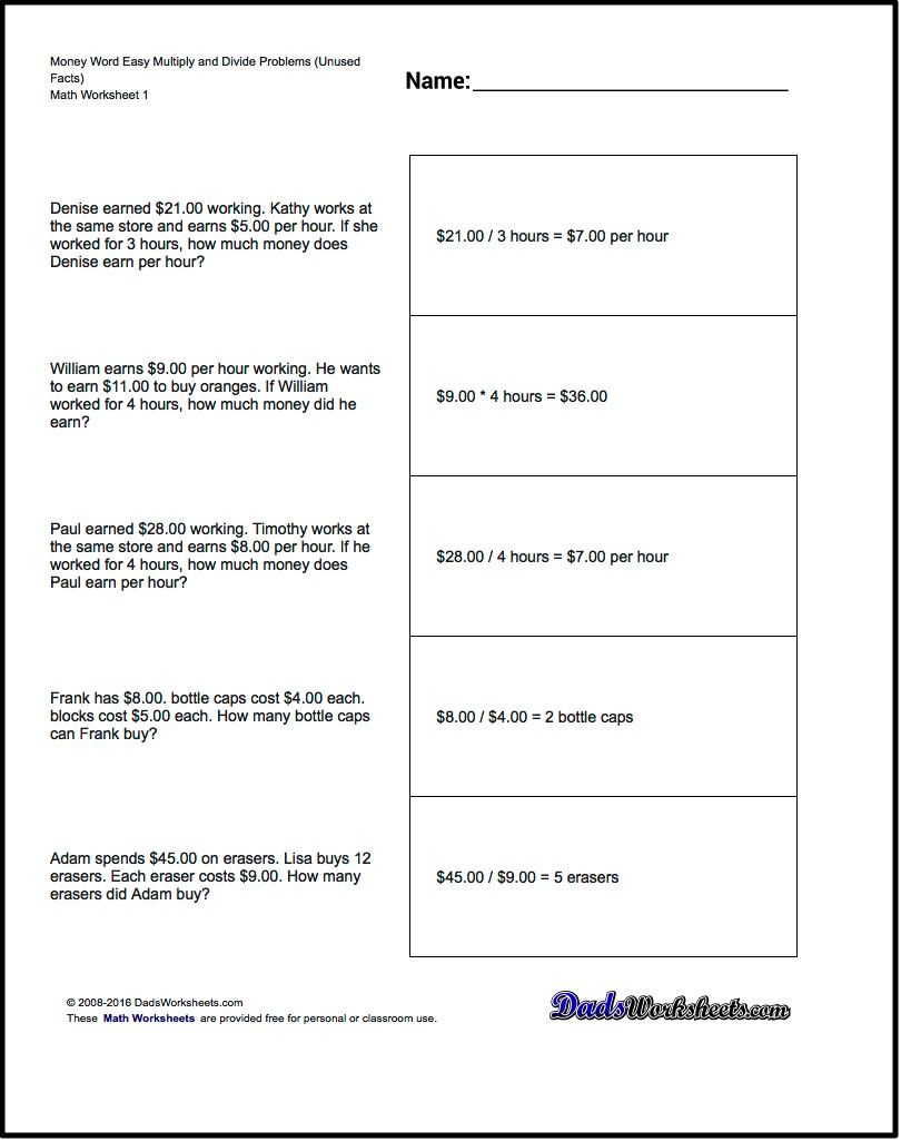 We Have Addition, Subtraction, Multiplication And Division Word - Free Printable Division Word Problems Worksheets For Grade 3