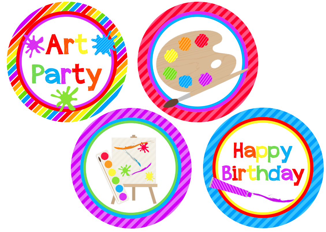 We Heart Parties: Free Printables Art Party Free Printables - Free Printable Paint Palette
