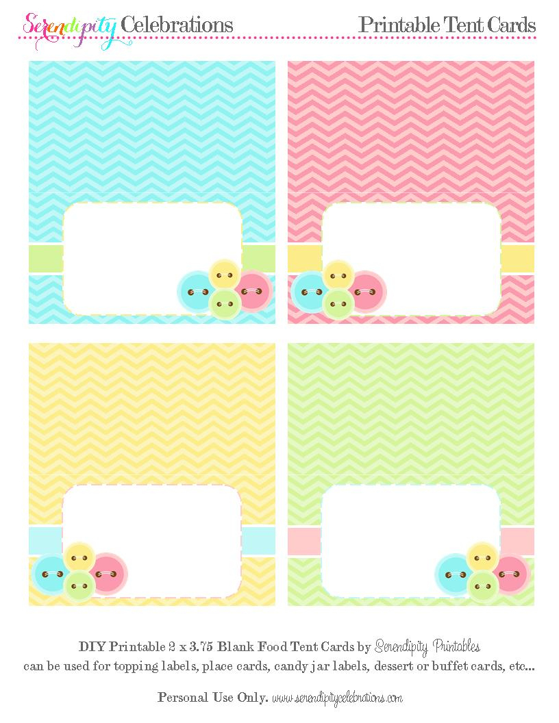 We Heart Parties: Free Printables Cute As A Button Free Printables - Free Printable Food Tent Cards