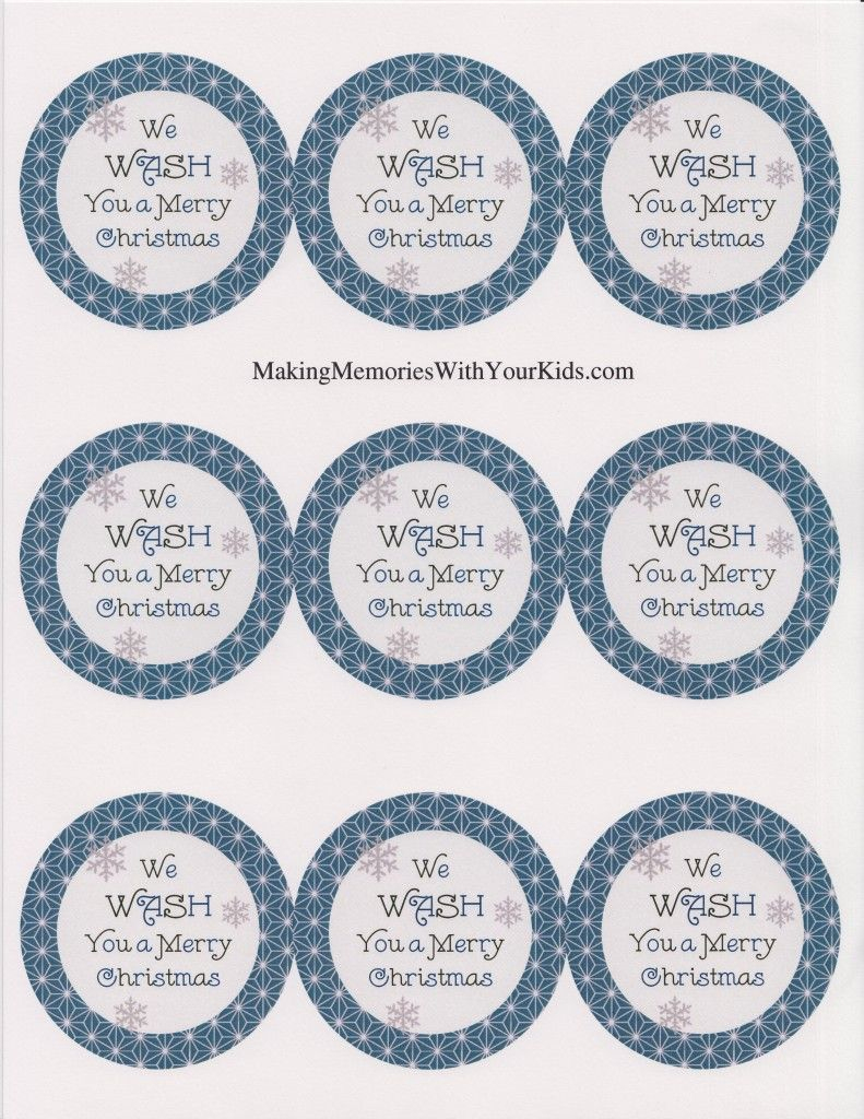 We Wash You A Merry Christmas Gift Idea (With Free Printable - We Wash You A Merry Christmas Free Printable