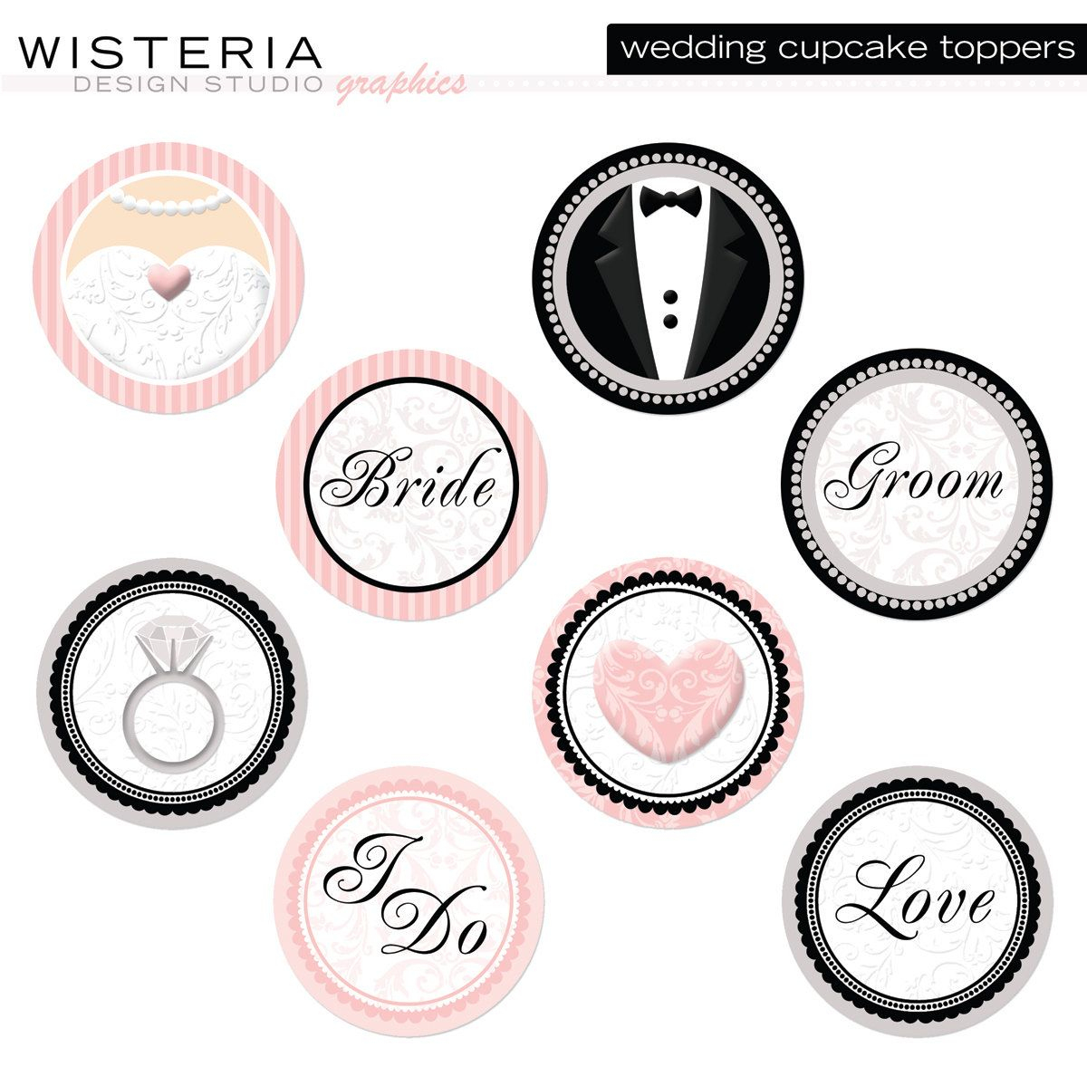 Wedding Cupcake Toppers - Diy Printables - Instant Download - Free Printable Whale Cupcake Toppers