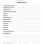 Wedding Party List Template Free   Fosterhaley Wedding Music List   Free Printable Wedding Party List