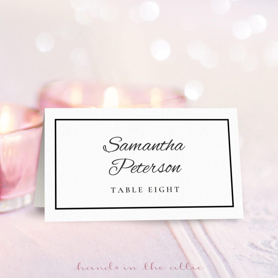 Wedding Place Card Template | Free On Handsintheattic | Place - Free Printable Place Cards Template