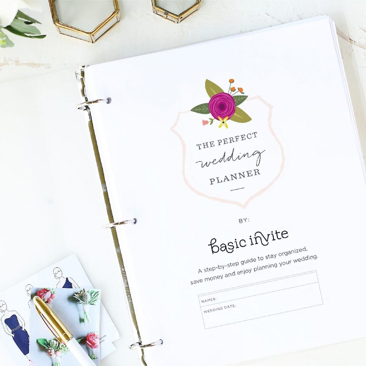 Wedding Planner Printablebasic Invite - Free Printable Wedding Planner Workbook