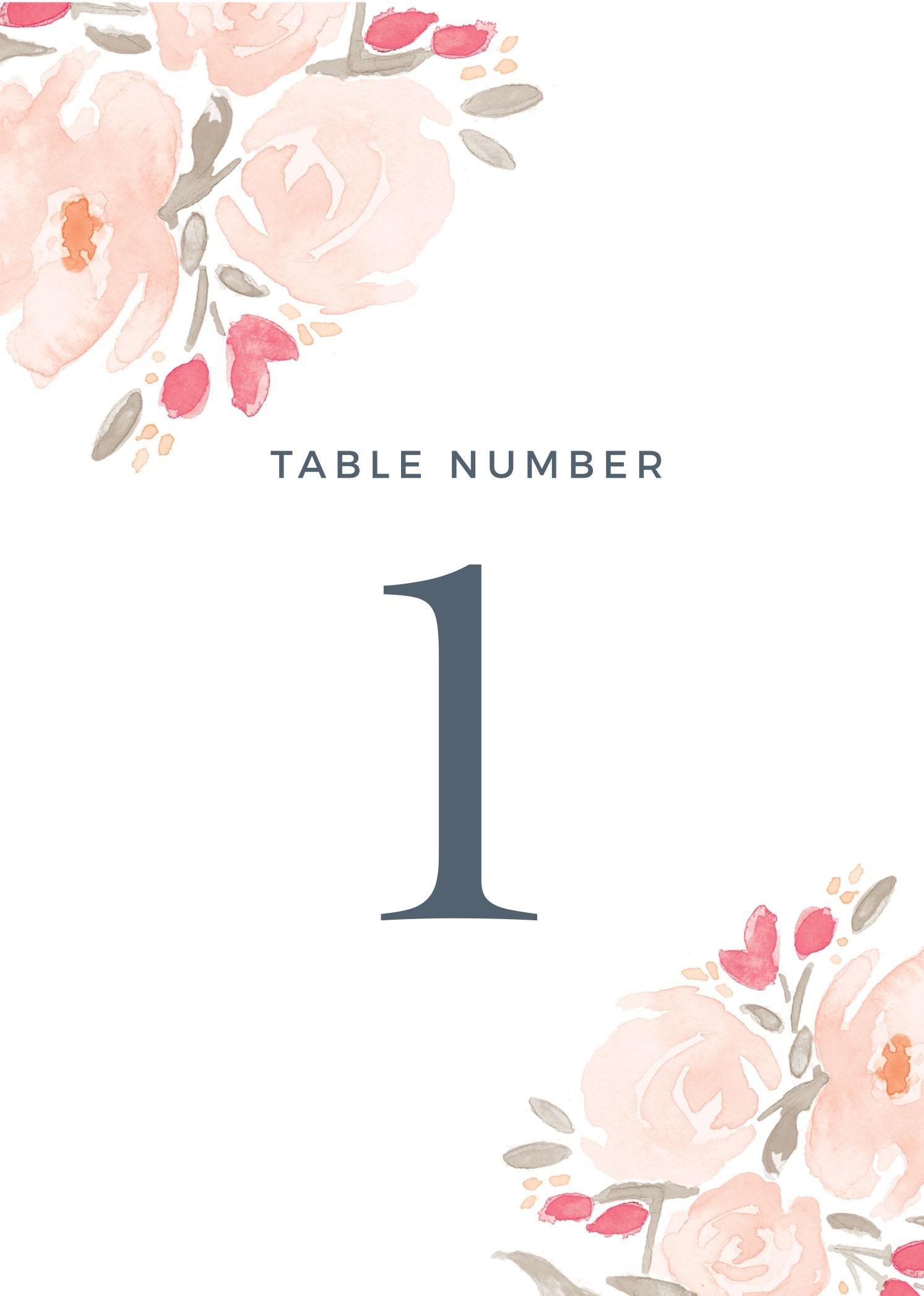Wedding Table Numbers   Printable Pdfbasic Invite - Free Printable Table Numbers
