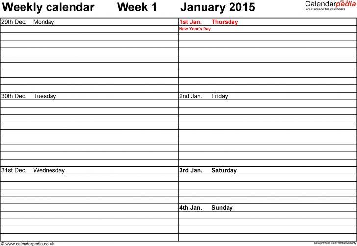 Free Printable Diary 2015