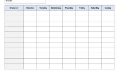 Weekly Employee Work Schedule Template. Free Blank Schedule.pdf - Free Printable Monthly Work Schedule Template