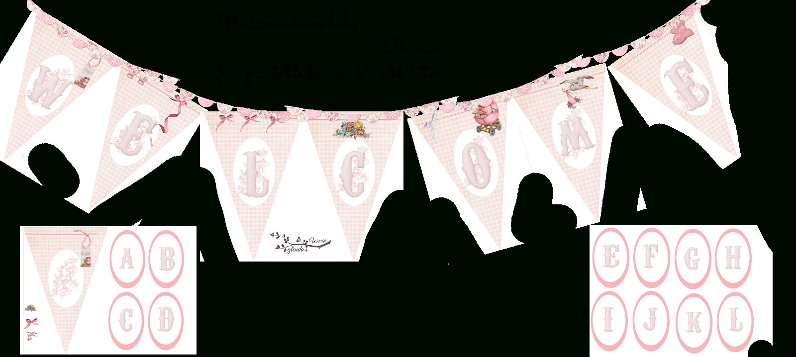 Welcome Home Baby-Girl Banner | Do It Yourself Today | Pinterest - Baby Girl Banner Free Printable