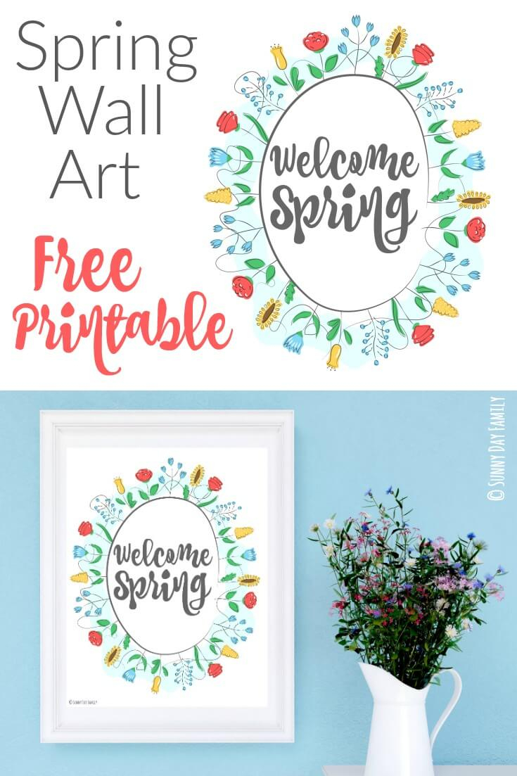 Welcome Spring: Free Printable Wall Art   Sunny Day Family - Free Printable Spring Decorations