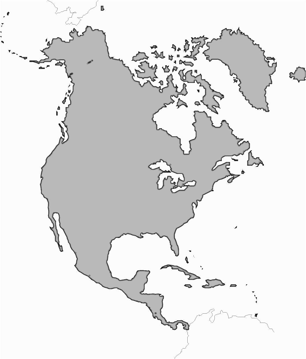 Western Hemisphere Maps Printable Guvecurid Outline Map Of North - Free Printable Outline Map Of North America