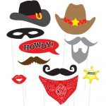 Western Photo Booth Props, 10Pc   Walmart   Free Printable Western Photo Props