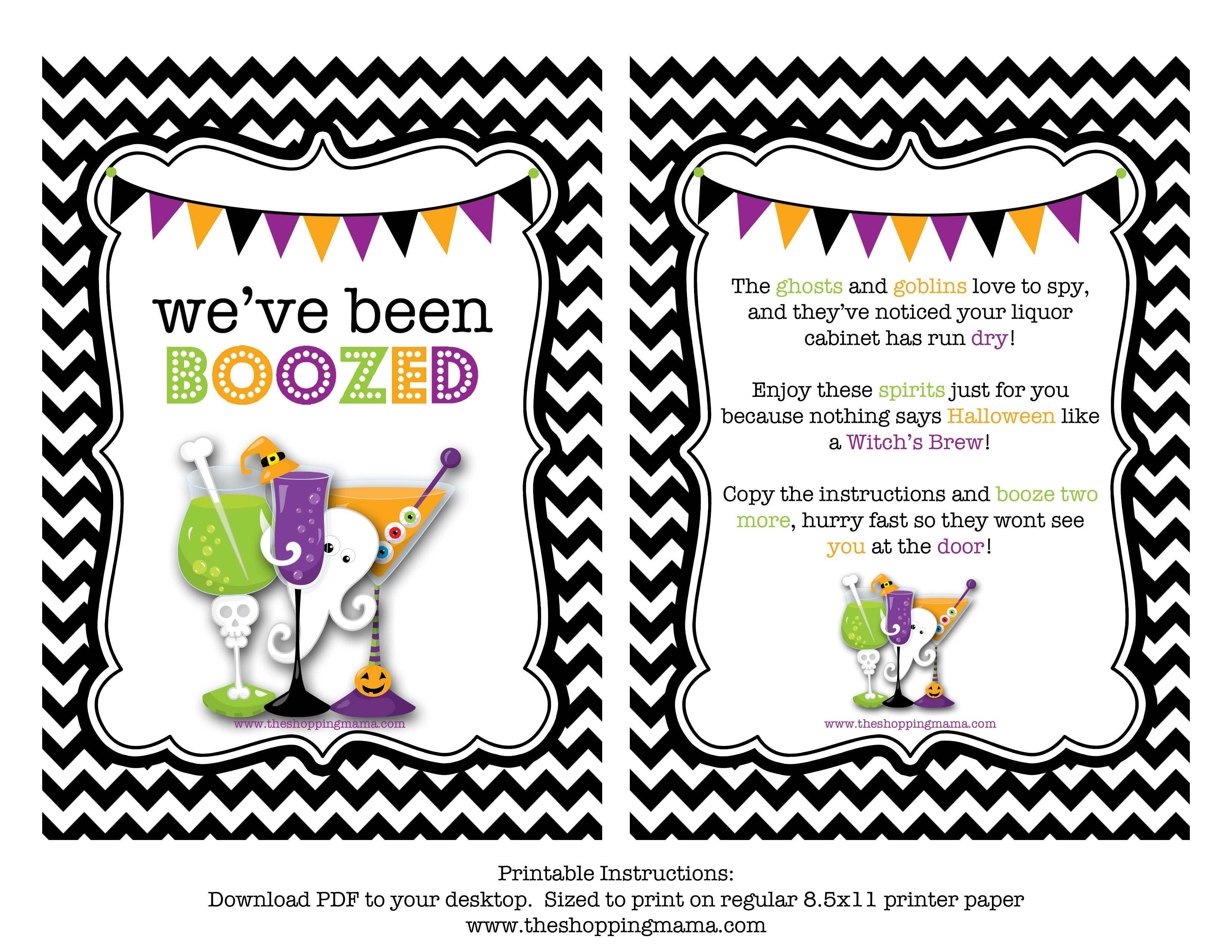 We've Been Boozed! {Free Printable} | Miscellaneous | Pinterest - You Ve Been Boozed Free Printable