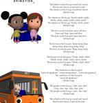 Wheels On The Bus Nursery Rhyme Lyrics Free Printable Nursery Rhyme   Free Printable Nursery Rhymes