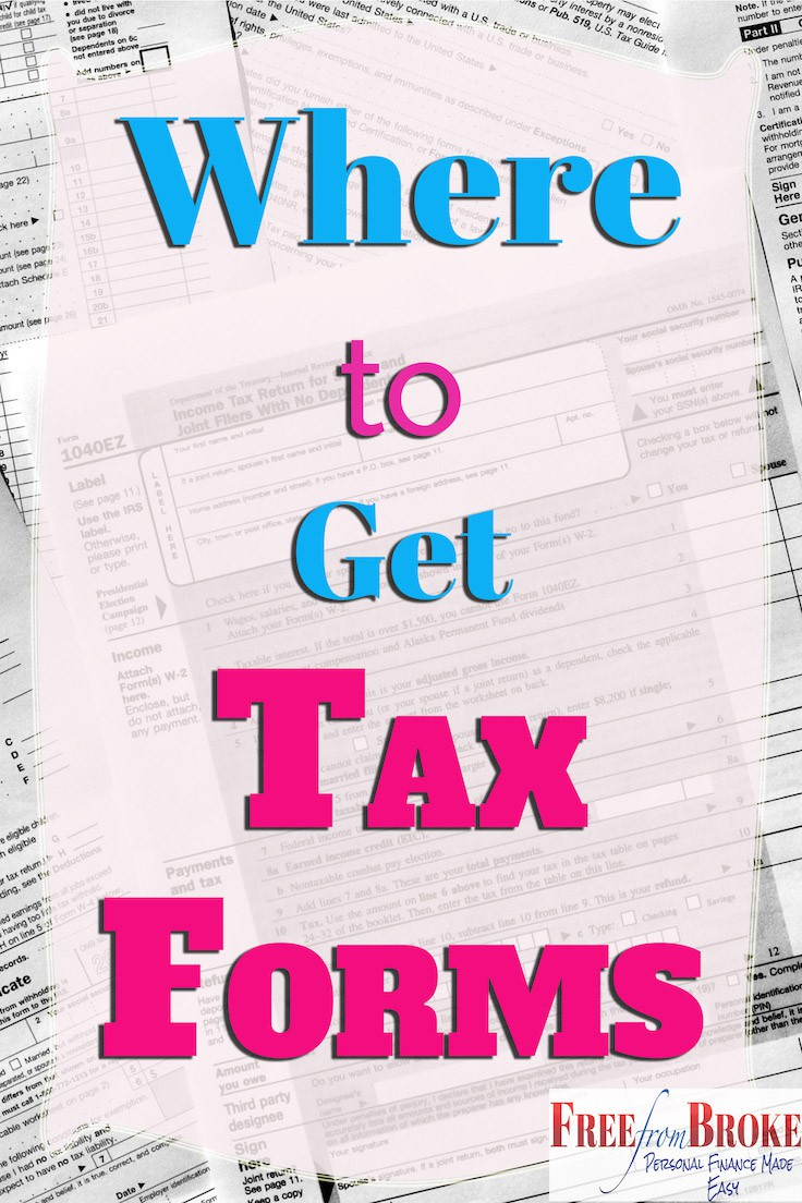 Where Can I Get Irs Tax Forms And Options To File Free - Free Printable Irs 1040 Forms