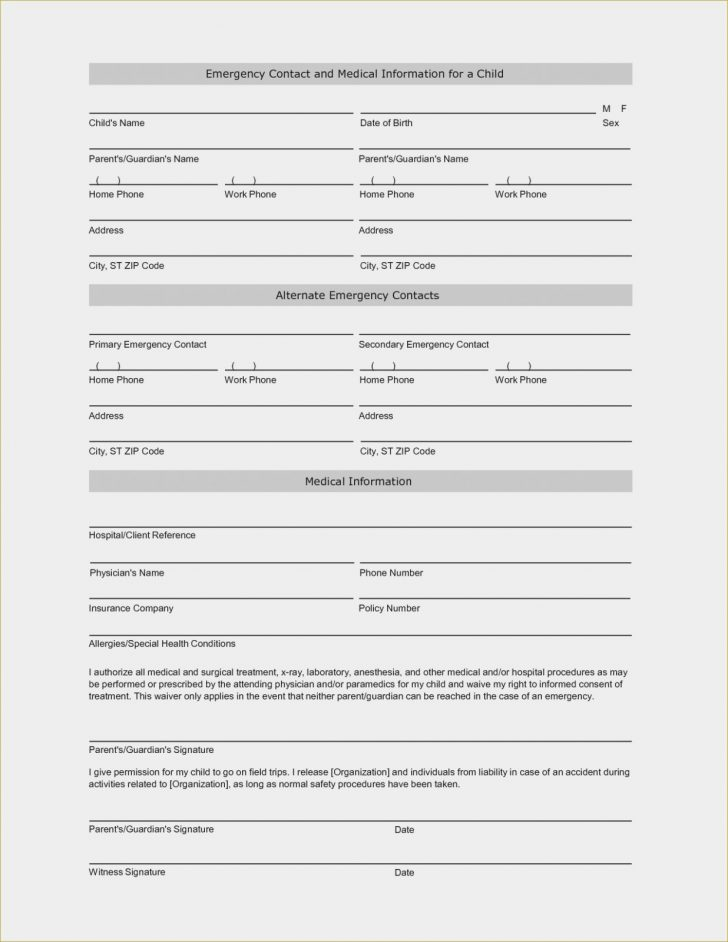 Free Printable Child Guardianship Forms