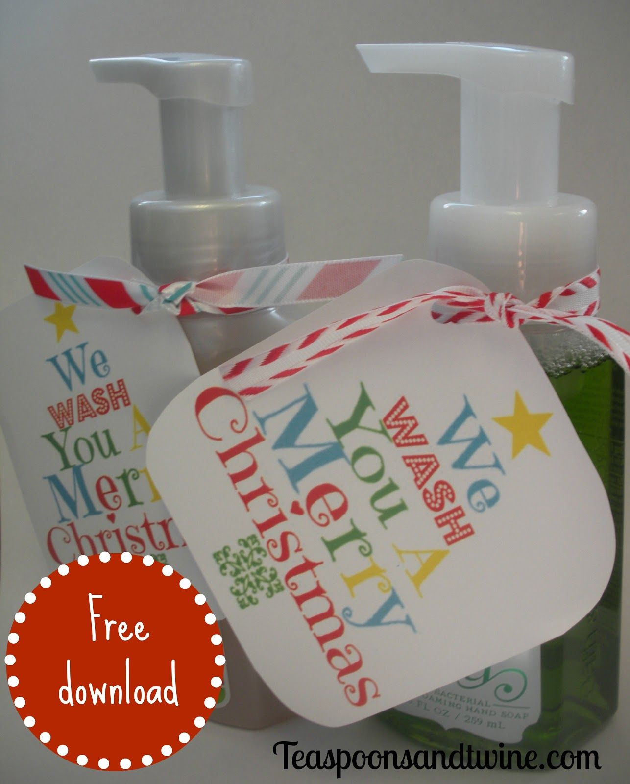 Why Soap Is The Only Present You Need This Christmas | Holiday Gift - We Wash You A Merry Christmas Free Printable