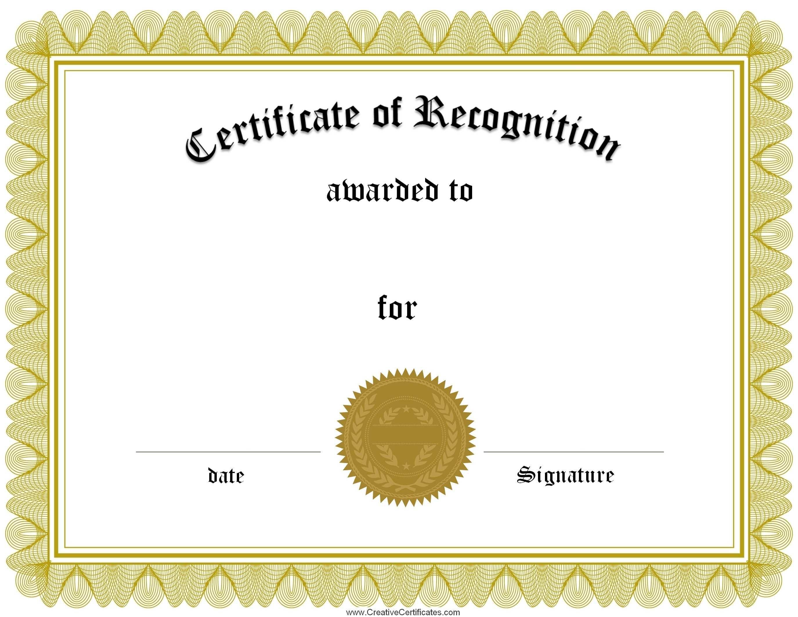 Wide Reciever Award Certificate Template Printable - 18.17 - Free Printable Award Certificates