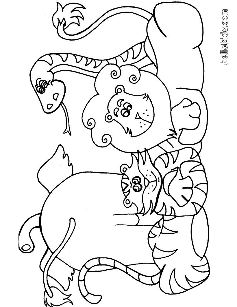 Wild Animal Coloring Pages - Hellokids - Free Printable Wild Animal Coloring Pages