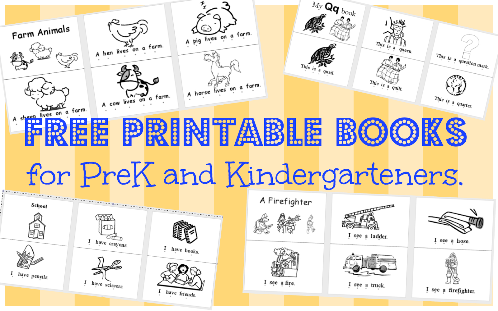 Wild Rumpus School House: *printable Books (Pk-K) - Free Printable Books