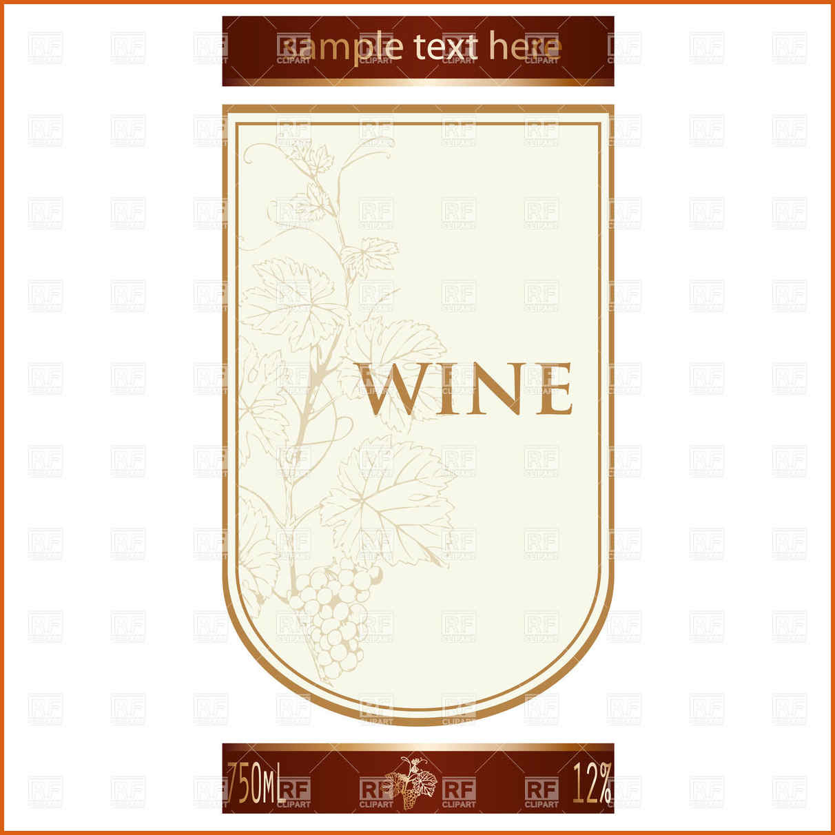 Wine Bottle With Different Blank Label Stock Illustration  Free - Free Printable Wine Labels