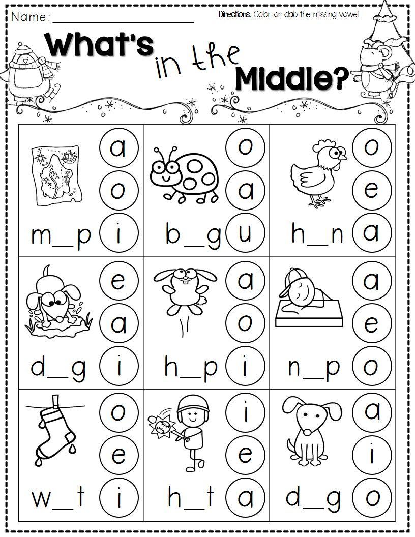 Winter Activities For Kindergarten Free | Kindergarten Literacy - Jolly Phonics Worksheets Free Printable