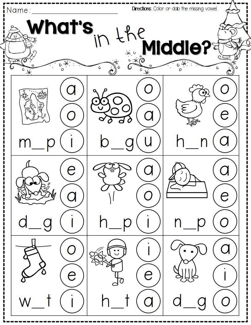 Winter Activities For Kindergarten Free | Kindergarten Literacy - Jolly Phonics Worksheets Free Printable
