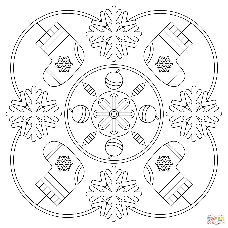 Winter Mandala Coloring Page | Free Printable Coloring Pages - Mandala Coloring Free Printable