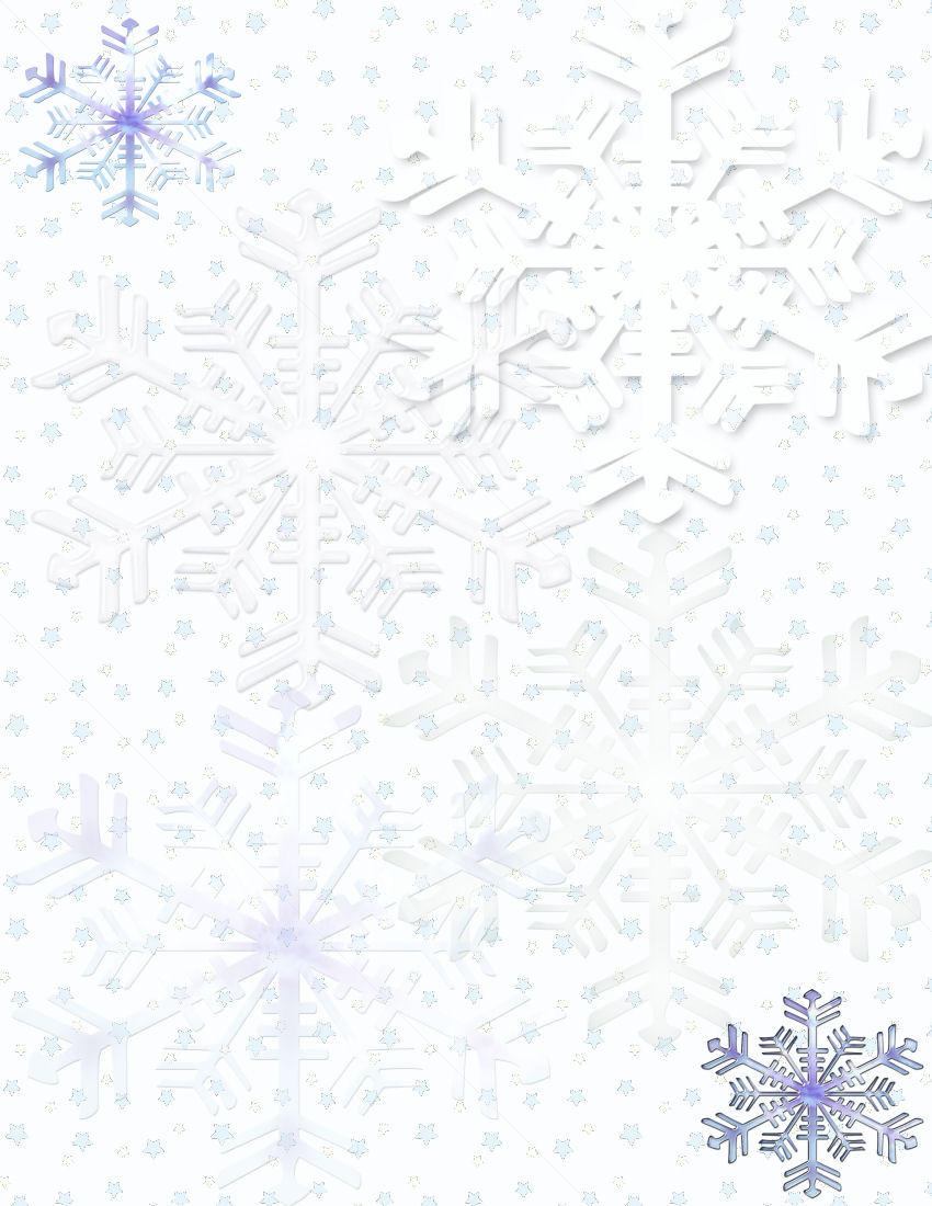 Winter Stationery Theme Downloads Pg. 1 - Free Printable Winter Stationery