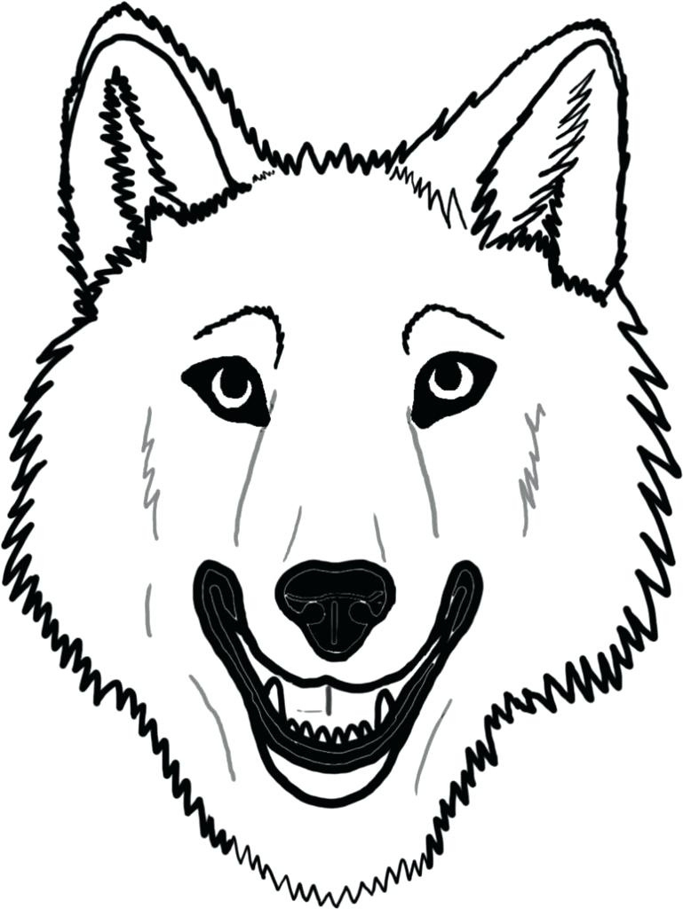 Wolf Face Coloring Pages To Print | Coloring For Kids 2018 With Free - Free Printable Wolf Face Mask