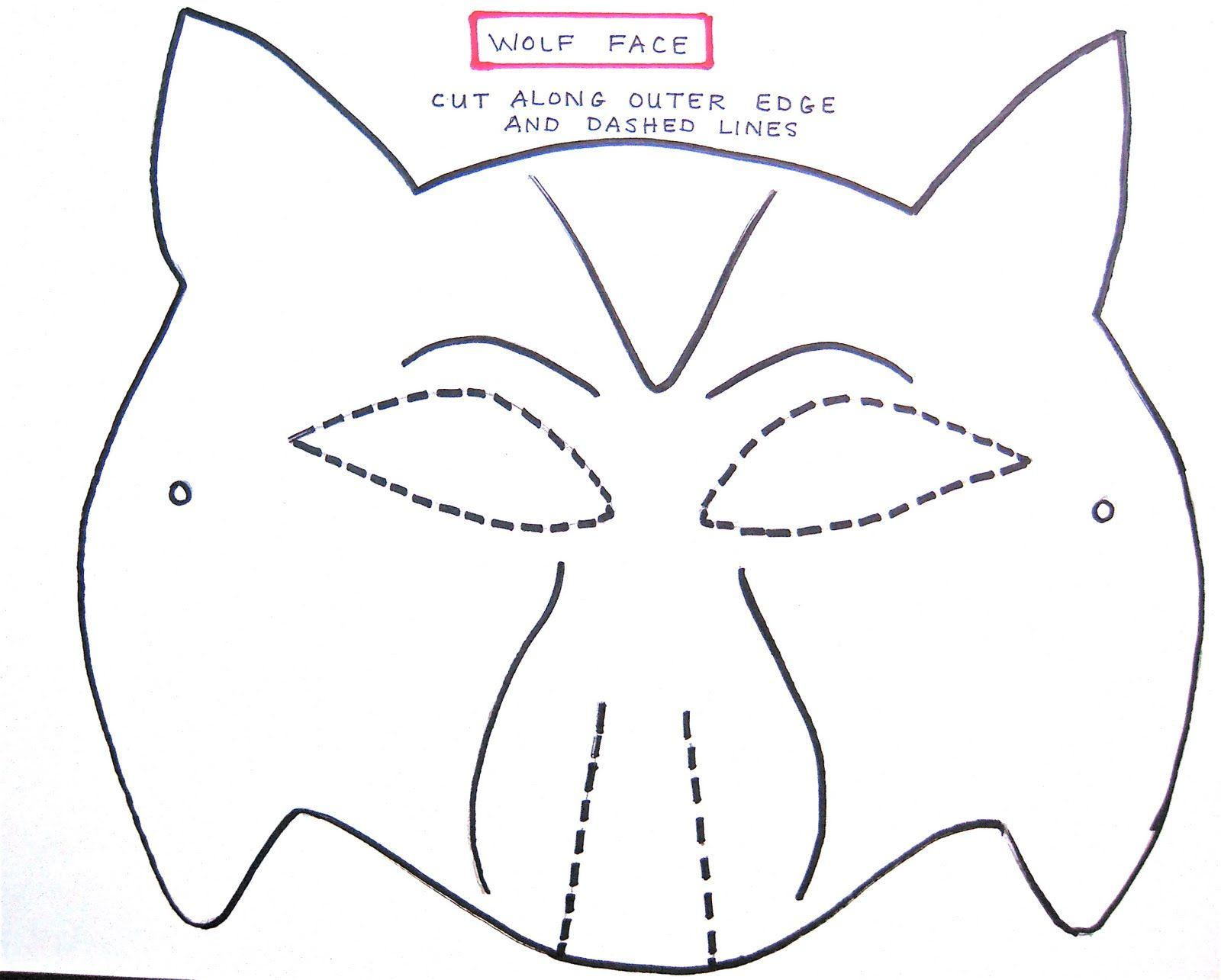 Wolf Mask Template For Preschoolers | Making The Wolf Mask | Kids - Free Printable Wolf Face Mask
