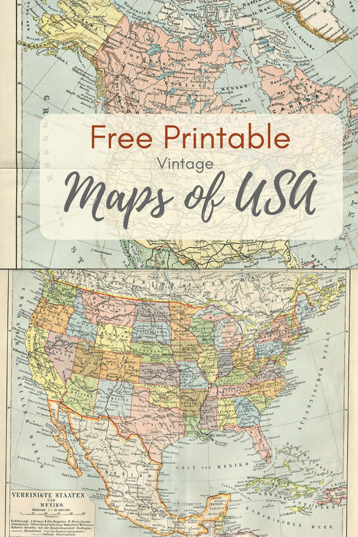 Wonderful Free Printable Vintage Maps To Download - Pillar Box Blue - Free Printable Vintage Pictures