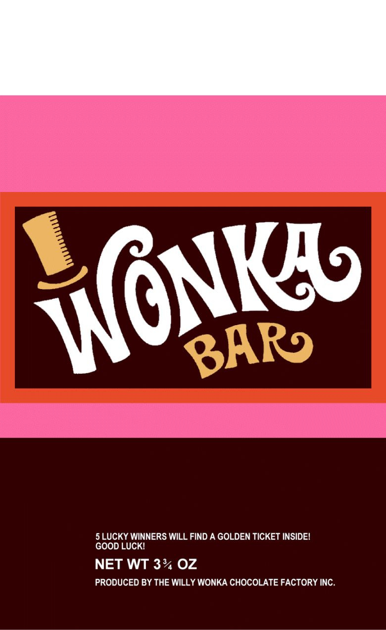 Wonka Bartoo Legit To Quitso He Passed It All On To Charlie - Free Printable Wonka Bar Wrapper Template