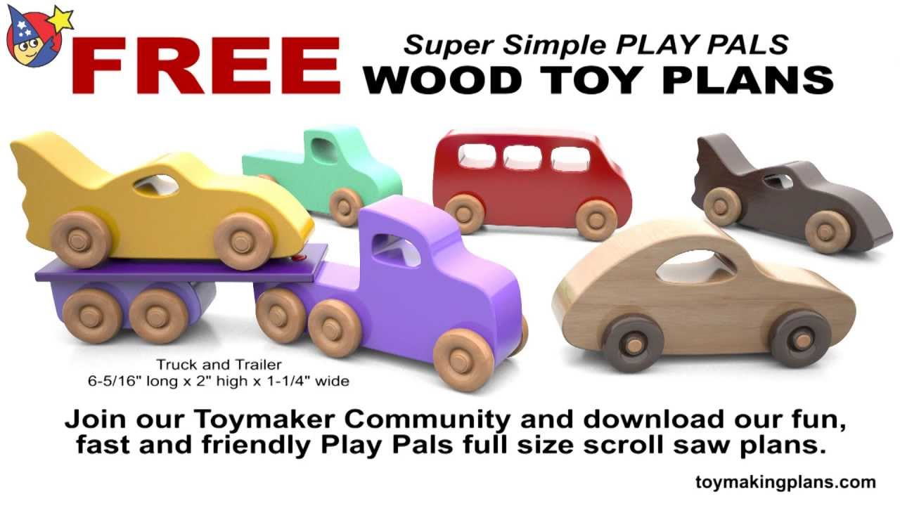 Wood Toy Plans - 5 Free Patterns - Youtube - Free Wooden Toy Plans Printable