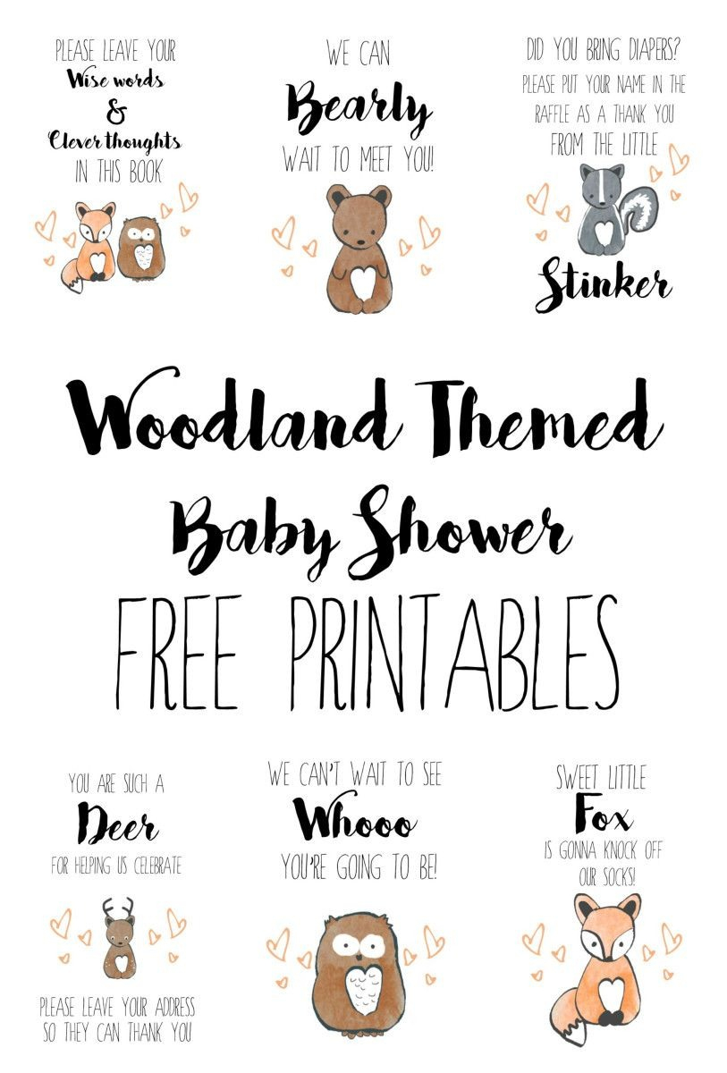 Woodland Baby Shower Free Printables Baby Showers Free Printable - Free Printable Diaper Raffle Tickets For Boy Baby Shower