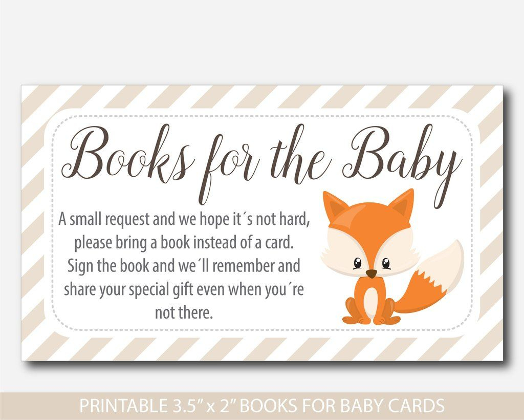 Woodland Bring A Book Instead Of A Card Inserts, Woodland Baby - Bring A Book Instead Of A Card Free Printable