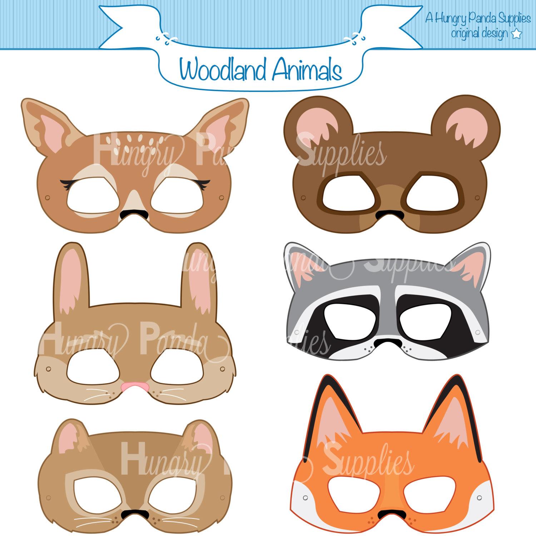 Woodland Forest Animals Printable Masks Woodland Animal Mask | Etsy - Free Printable Chipmunk Mask