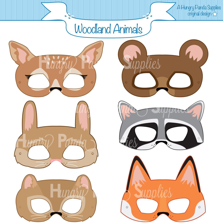 Woodland Forest Animals Printable Masks Woodland Animal Mask   Etsy - Free Printable Lion Mask