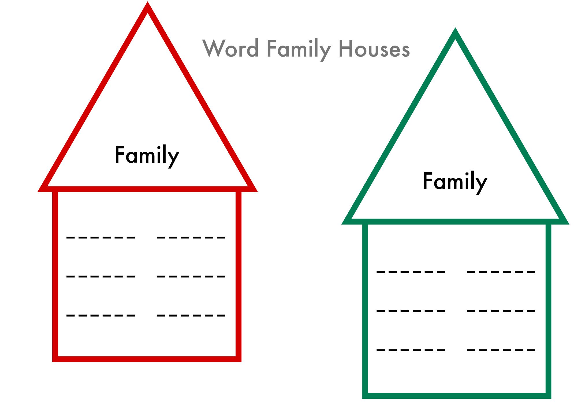Word Families Printable - Write & Wipe ! - No Time For Flash Cards - Free Printable Word Family Games