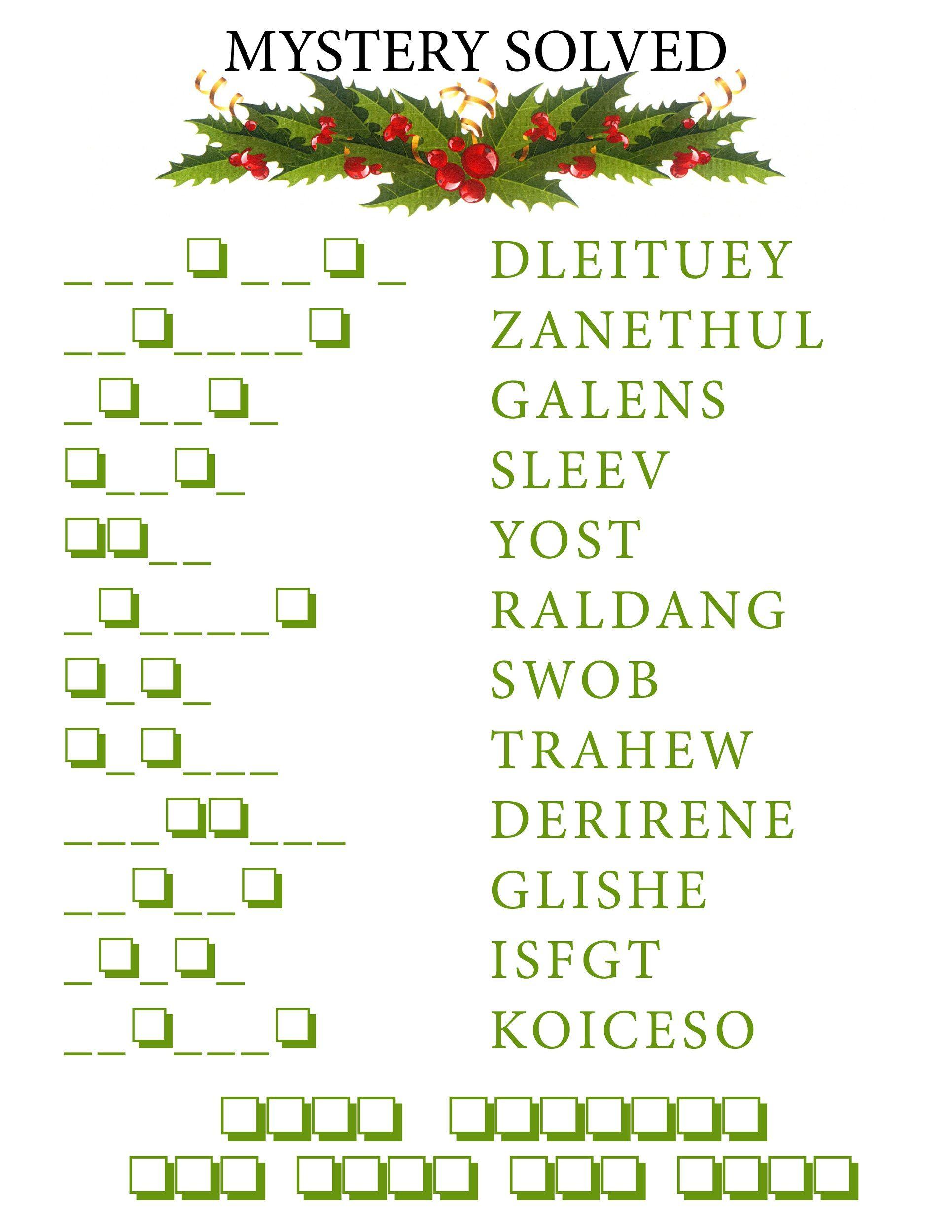 Word Scramble Puzzles Christmas   K5 Worksheets   Christmas Activity - Free Word Scramble Maker Printable