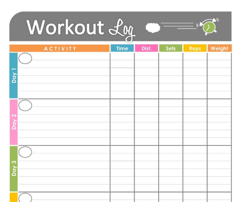Workout Log Exercise Log Printable Forfreshandorganized, $3.50 - Free Printable Workout Log