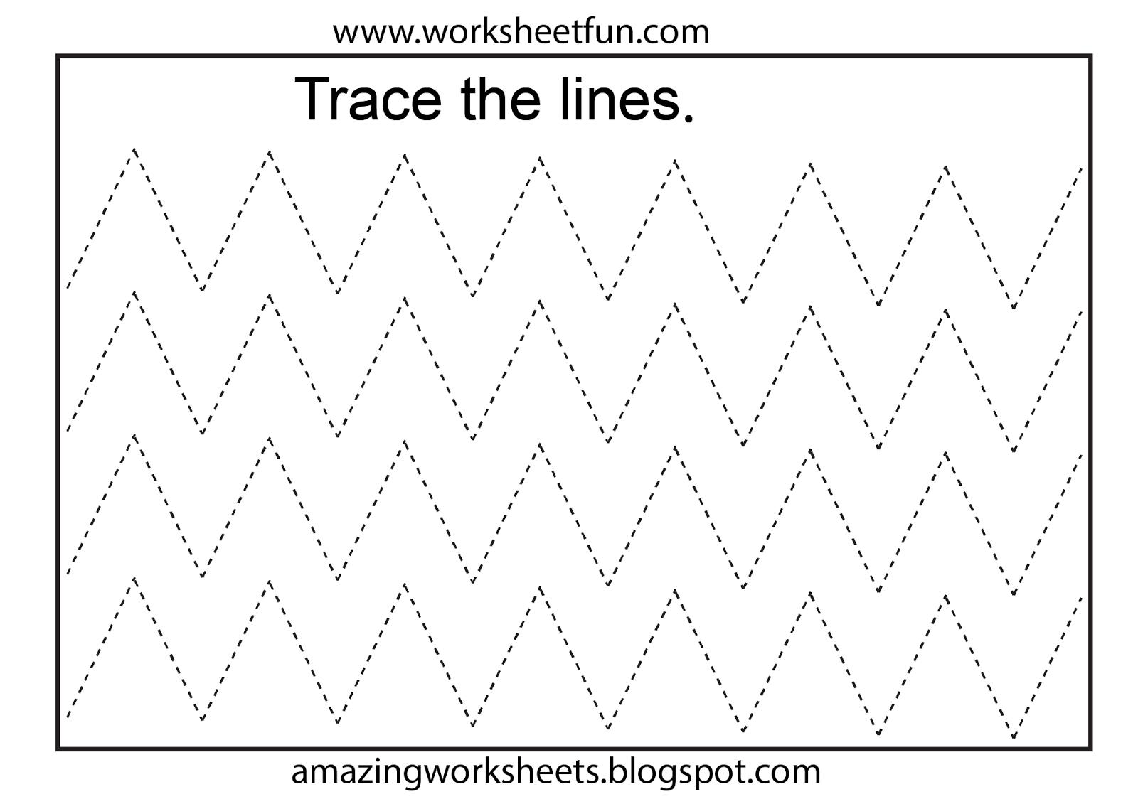 Worksheetfun - Free Printable Worksheets | Toddler Worksheets - Free Printable Tracing Worksheets