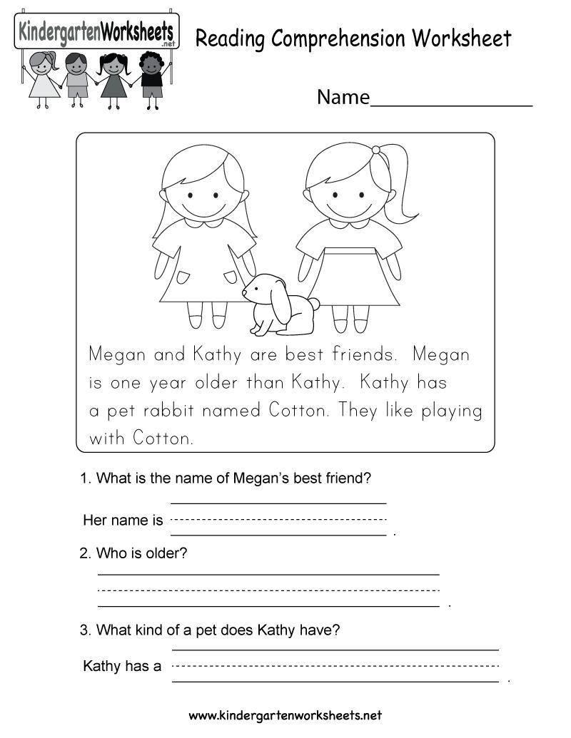 Worksheets Pages : Worksheets Pages Free Printable Reading - Free Printable Reading Comprehension Worksheets For Kindergarten